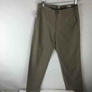 NWT Gap Relaxed Pants Mens Sz 32x30 Flat Khaki